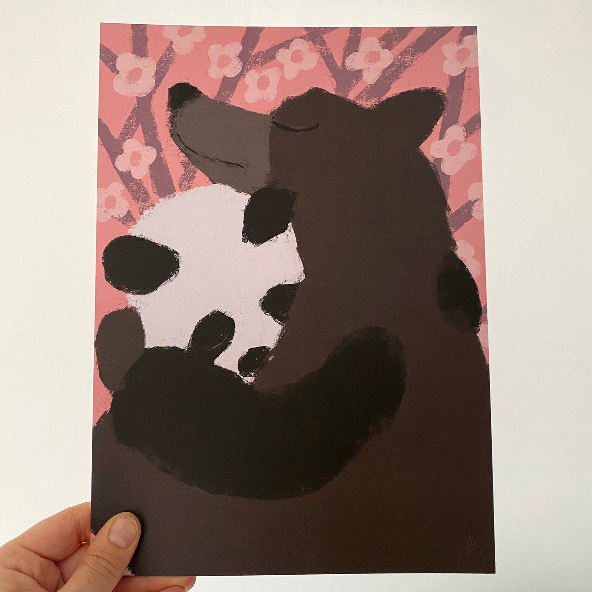 Image of  Bear Hug A4 print (choose your design  or set of 3)