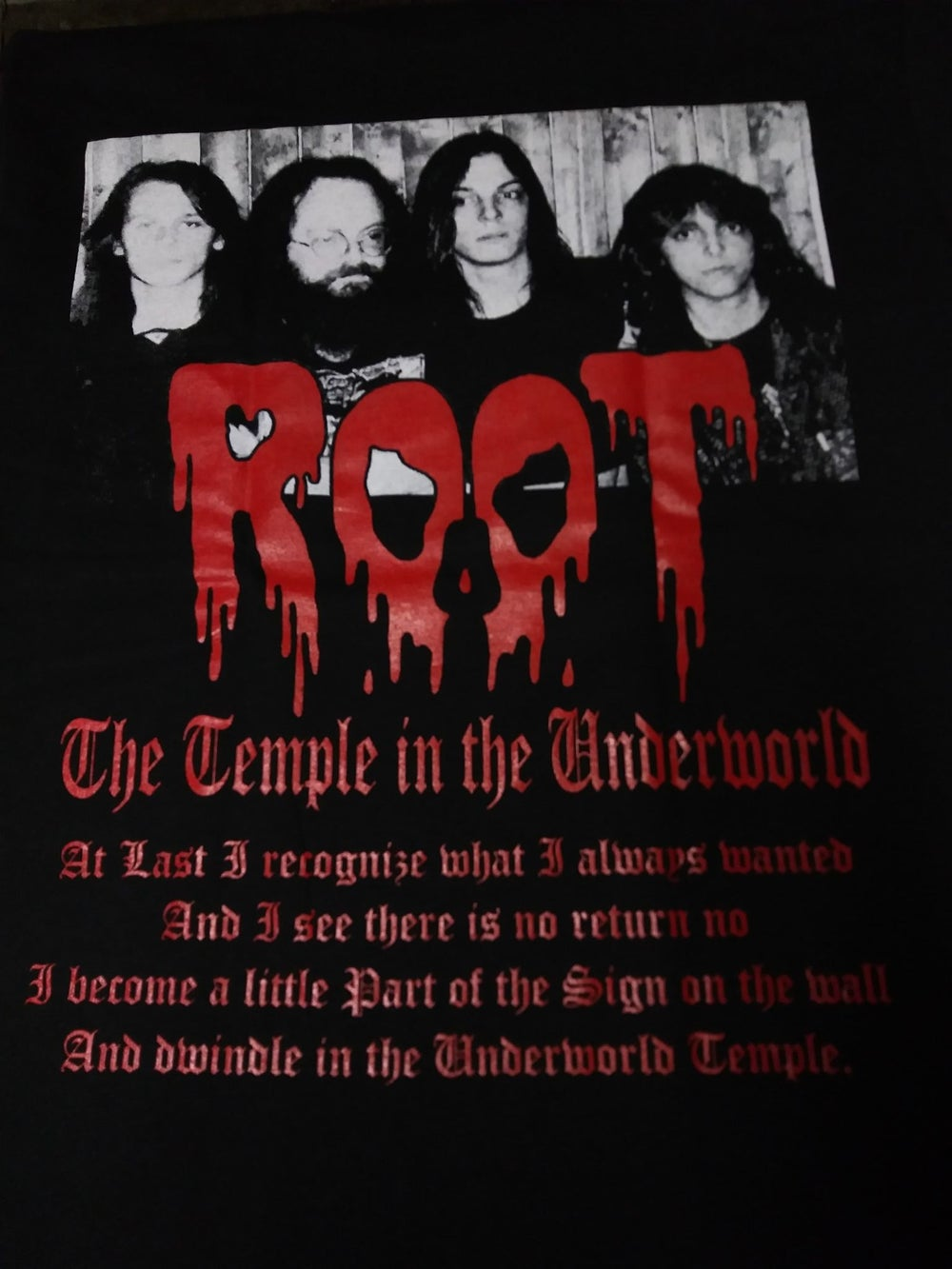 ROOT The Temple in  the underworld T-SHIRT *Imported*