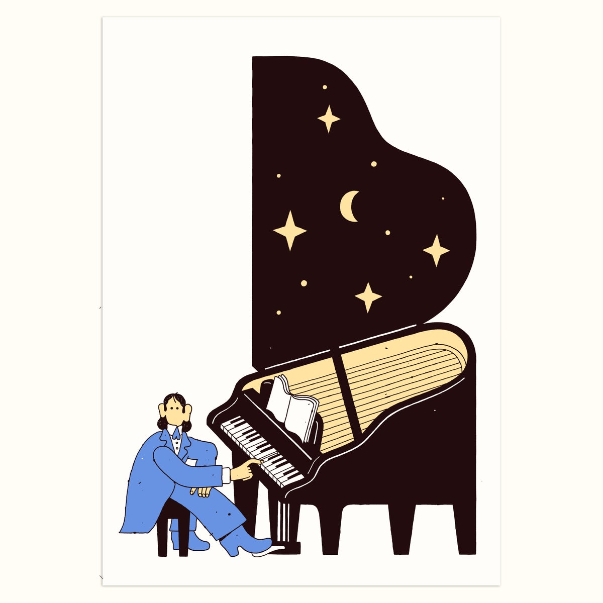 Image of Pianist (Blue edition)