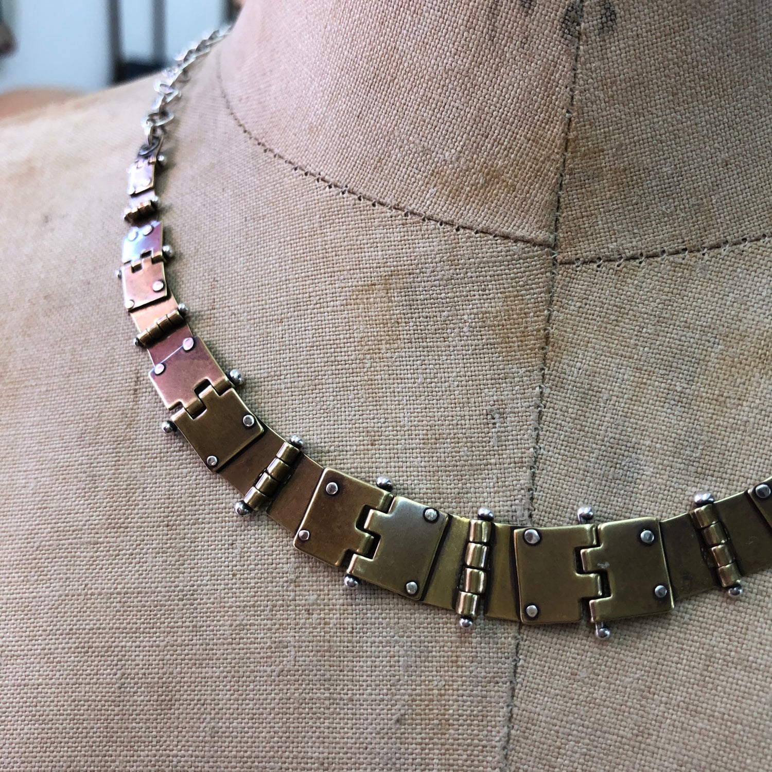 Image of Hinged hinges necklace