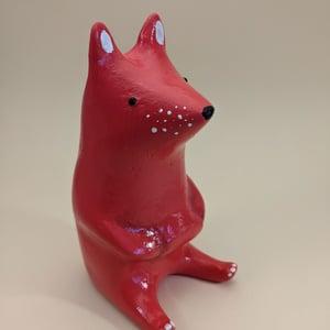 """Red Sitting Fox Sculpture - """"Beppo"""""""