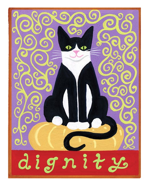 Image of Dignity- Illumination Series print on wooden plaque