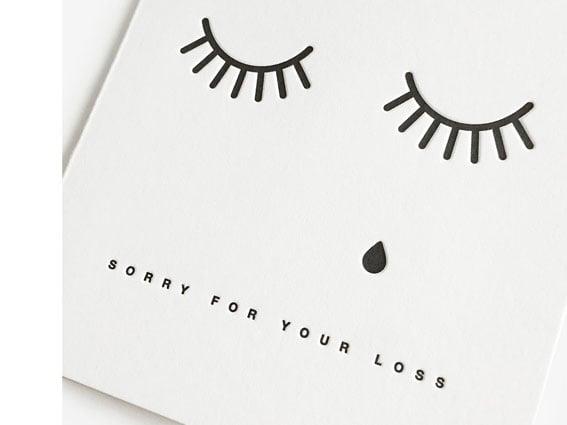 Image of LETTERPRESS-KARTE Sorry for your loss