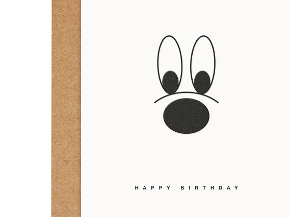 Image of LETTERPRESS-KARTE Happy Birthday