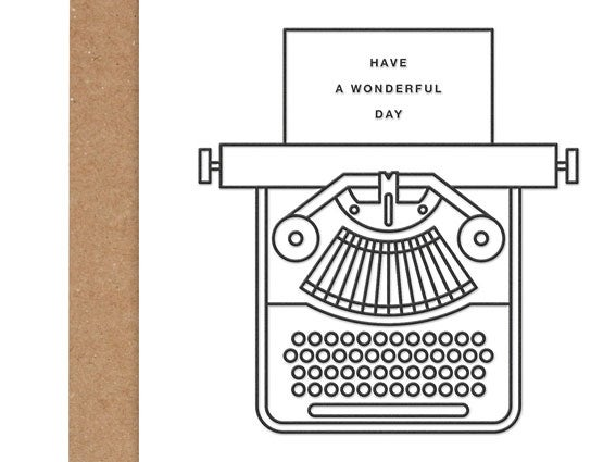 Image of LETTERPRESS-KARTE Have a wonderful day