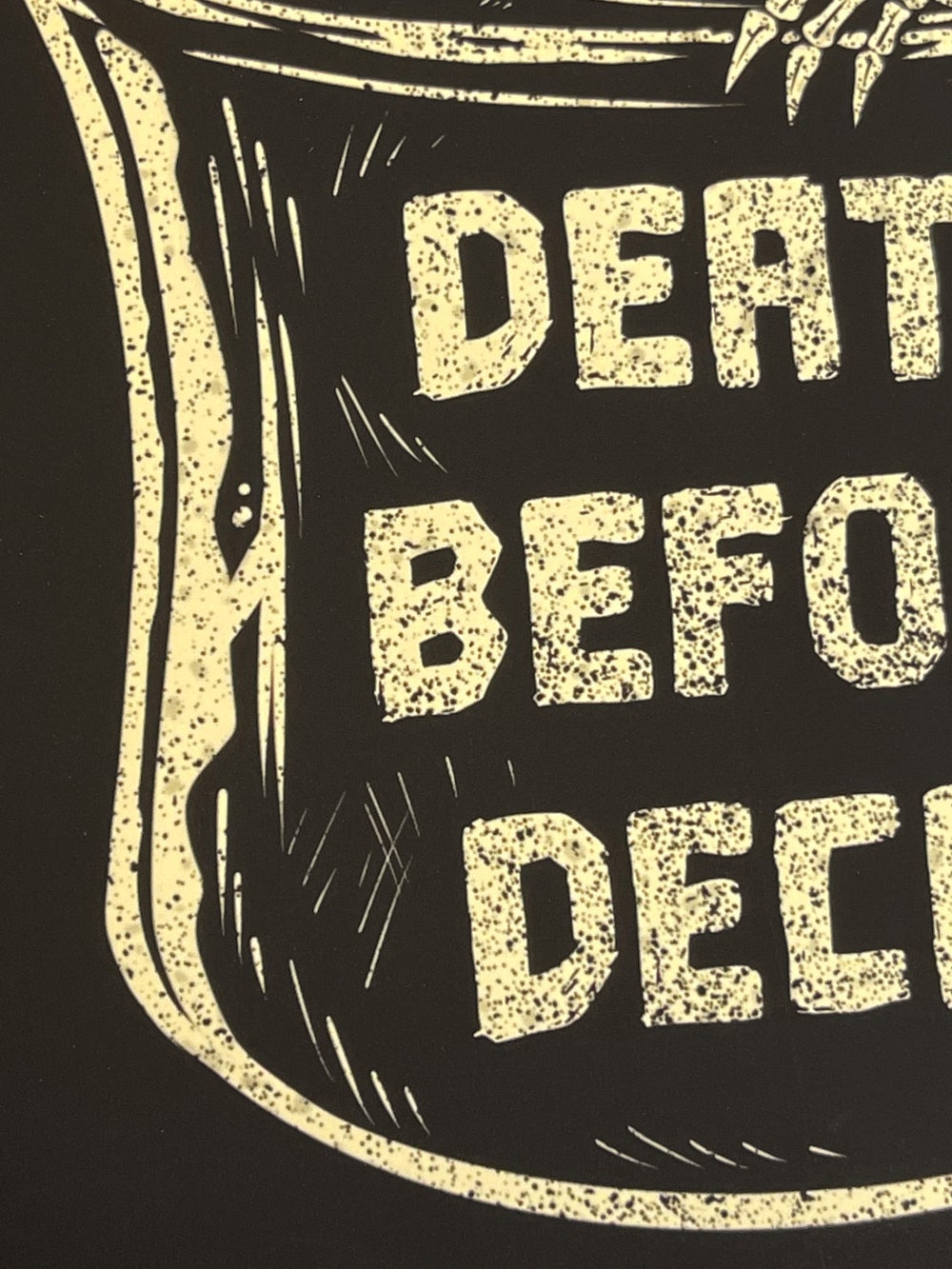 """DEATH BEFORE DECAF"" Print"
