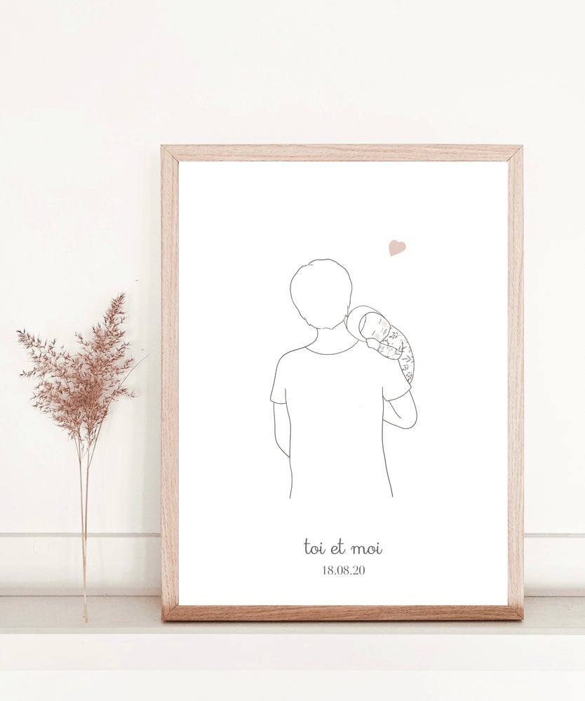 Image of Affiche Toi et moi papa
