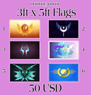 Image 1 of Full Size Pony Flags