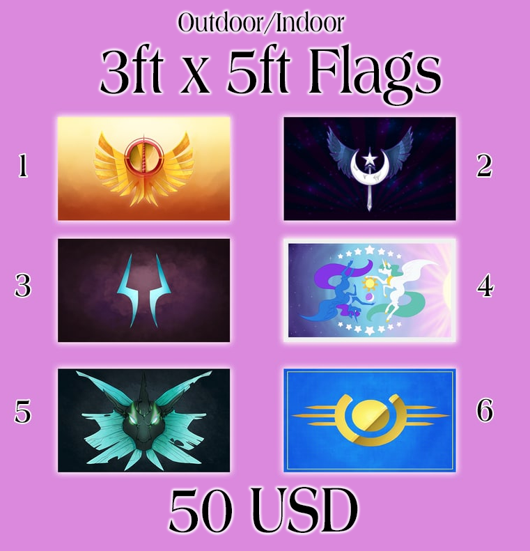 Image of Full Size Pony Flags
