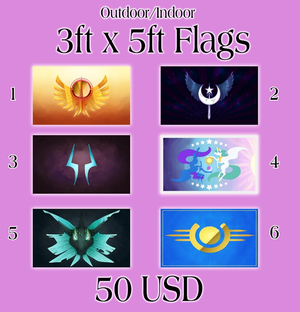 Full Size Pony Flags