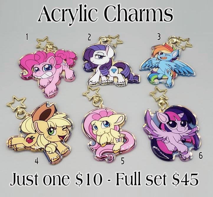 Pony Life Style - Large Acrylic Charms