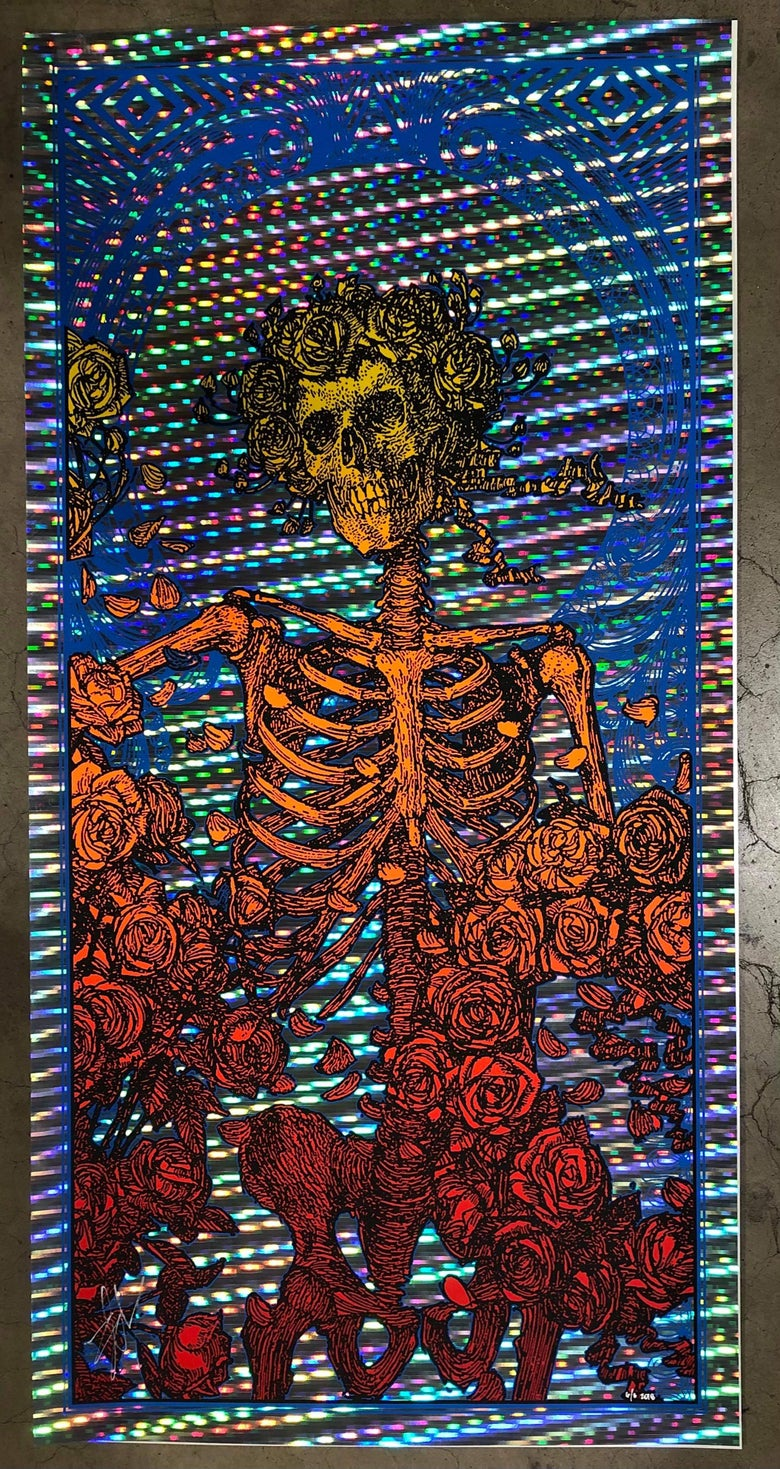 "Image of RARE ""BERTHA"" GRATEFUL DEAD TRACER FOIL"