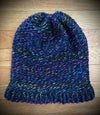 """""""Ferris Wheel Nights"""" hand-knitted slouchy hat"""