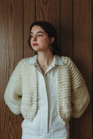 Image of Knitting Pattern - Carlsile Cardigan