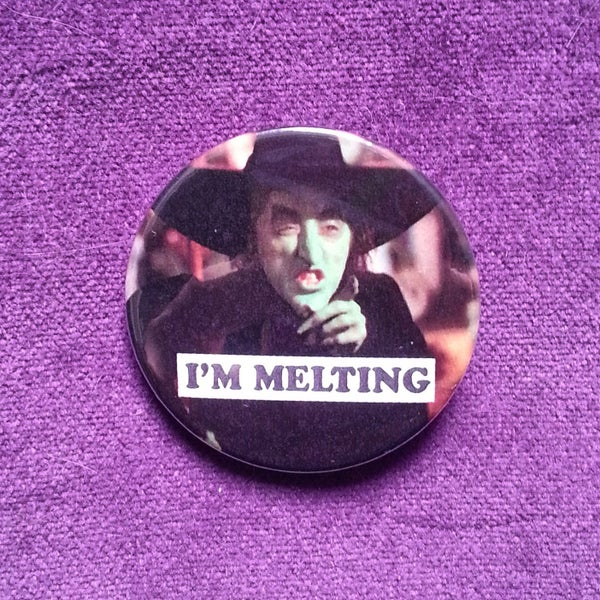 Image of badge le magicien d'oz - the wizard of oz - melting