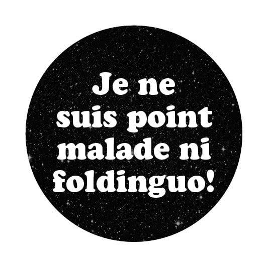 Image of badge les visiteurs - foldinguo