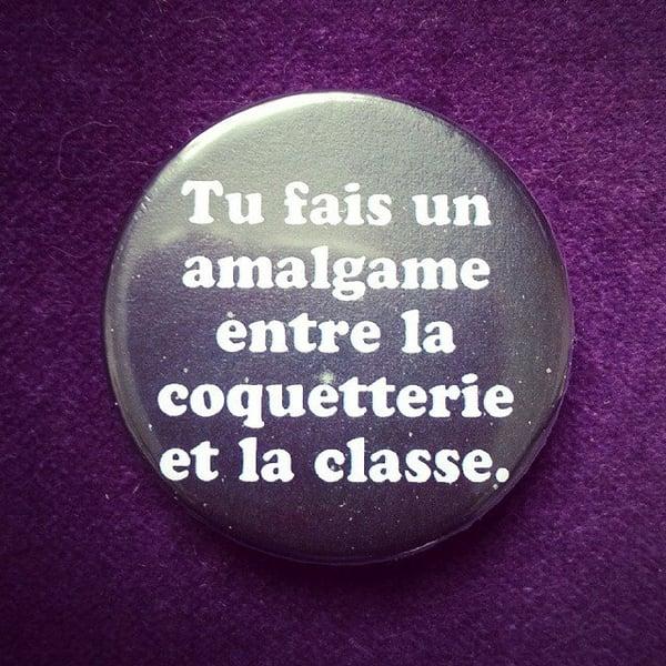 Image of badge la classe américaine - amalgame