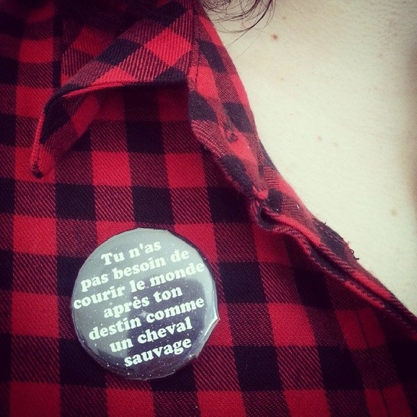Image of badge dirty dancing - cheval sauvage