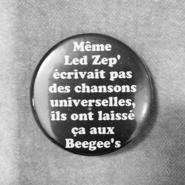 Image of badge wayne's world - led zep