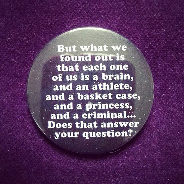 Image of badge breakfast club - questions