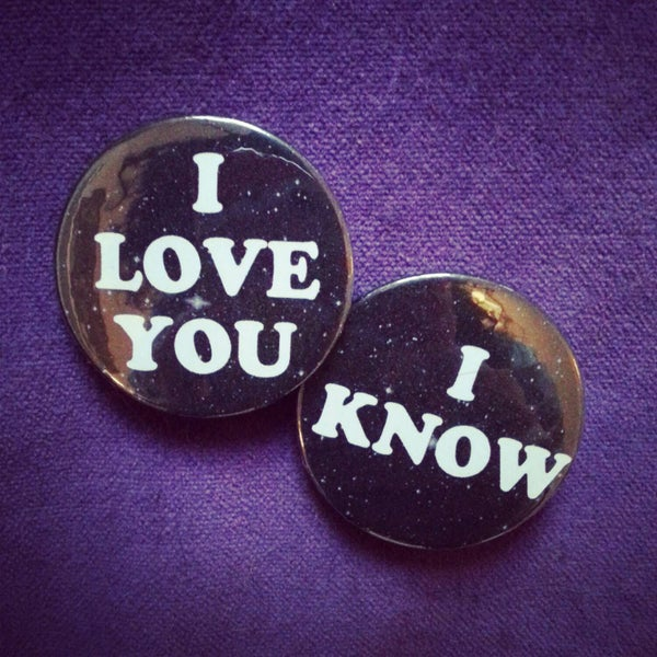 Image of badge star wars - pack I love you