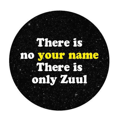 Image of badge ghostbusters - zuul