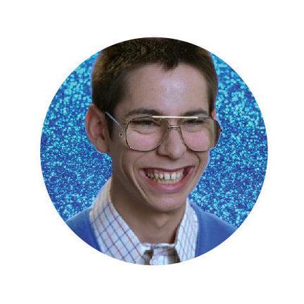 Image of badge freaks and geeks - bill