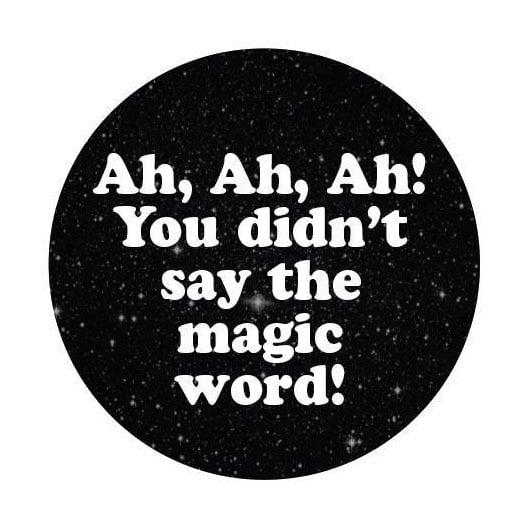 Image of badge jurassic park - magic word
