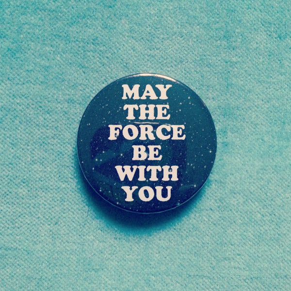 Image of badge star wars - may the force