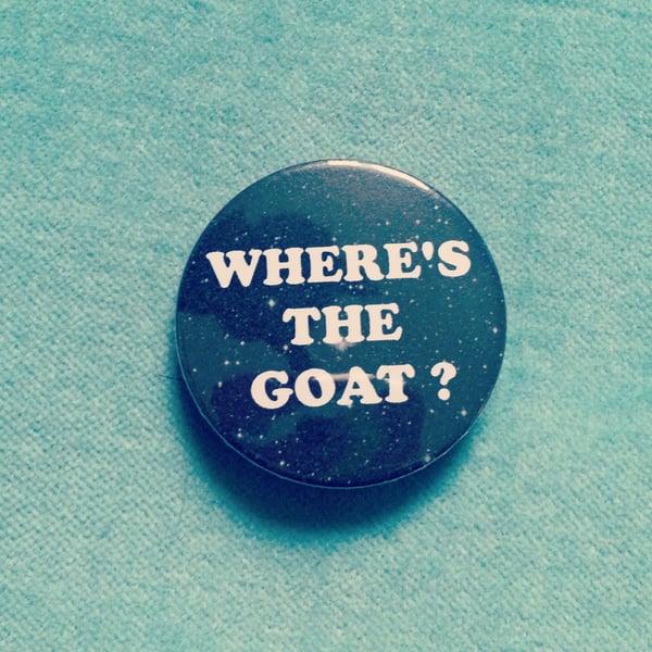 Image of badge jurassic park - goat