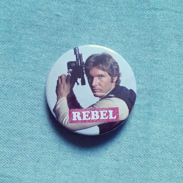 Image of badge star wars - solo