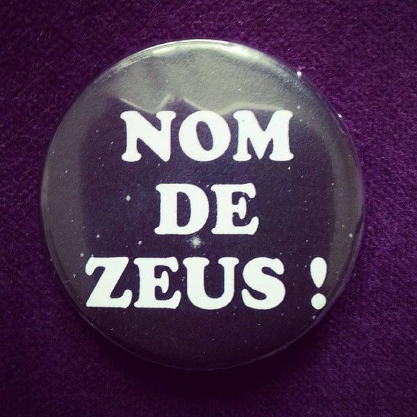Image of badge retour vers le futur - back to the future - zeus