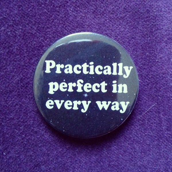 Image of badge mary poppins - perfect