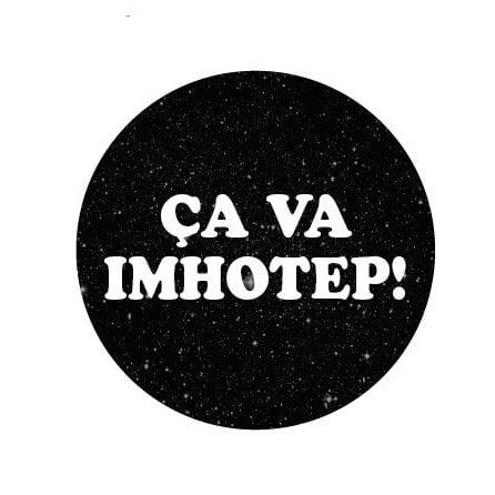 Image of badge astérix mission cléopâtre - imhotep
