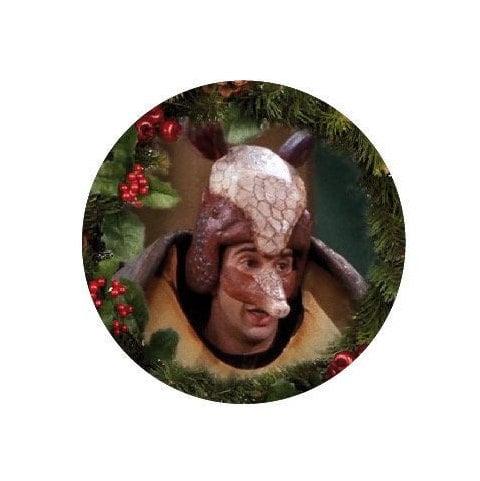 Image of badge friends - santa armadillo