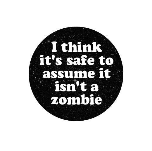 Image of badge alien - zombie