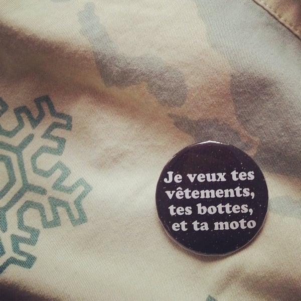 Image of badge terminator - je veux