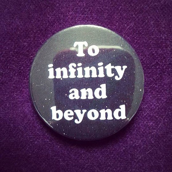 Image of badge toy story - infinity