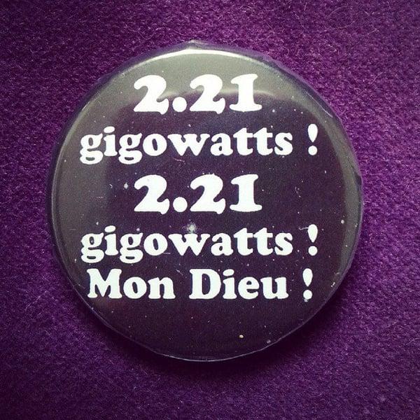 Image of badge retour vers le futur - back to the future - gigowatts