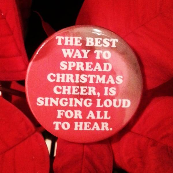 Image of badge elfe - elf - spread christmas