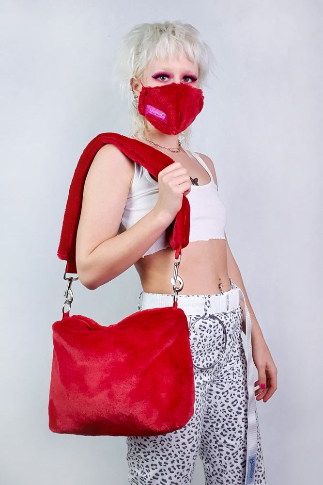 Image of Red Pill Furry Purse + MASK
