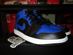 "Image of Air Jordan I (1) Retro Mid ""Black/Hyper Royal"""
