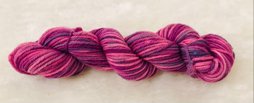 Hand Dyed 8ply Wool Candy and Orange Sunset