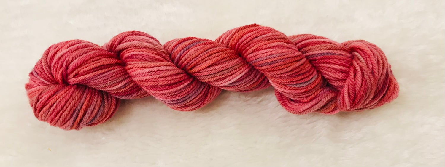 Image of Hand Dyed 8ply Wool Candy and Orange Sunset