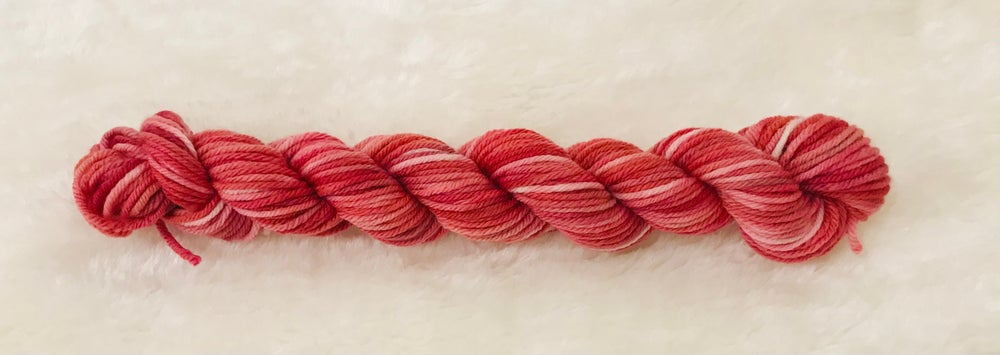 Image of Hand Dyed 8ply Wool Blush