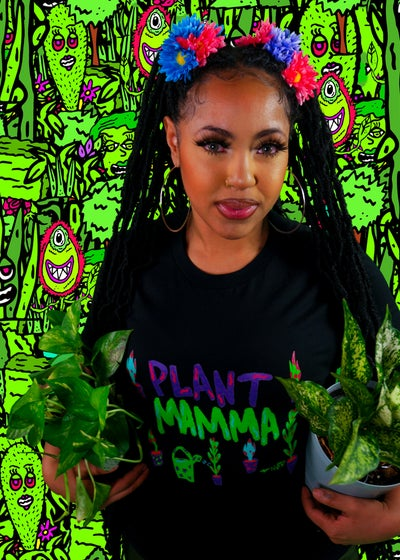 Image of Black Plant Mama  Unisex T-Shirt