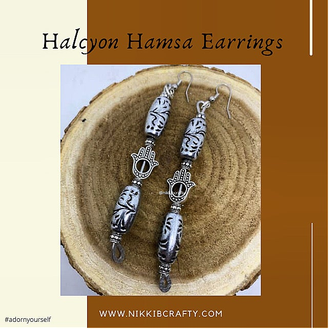 Image of Halcyon Hamsa Earrings