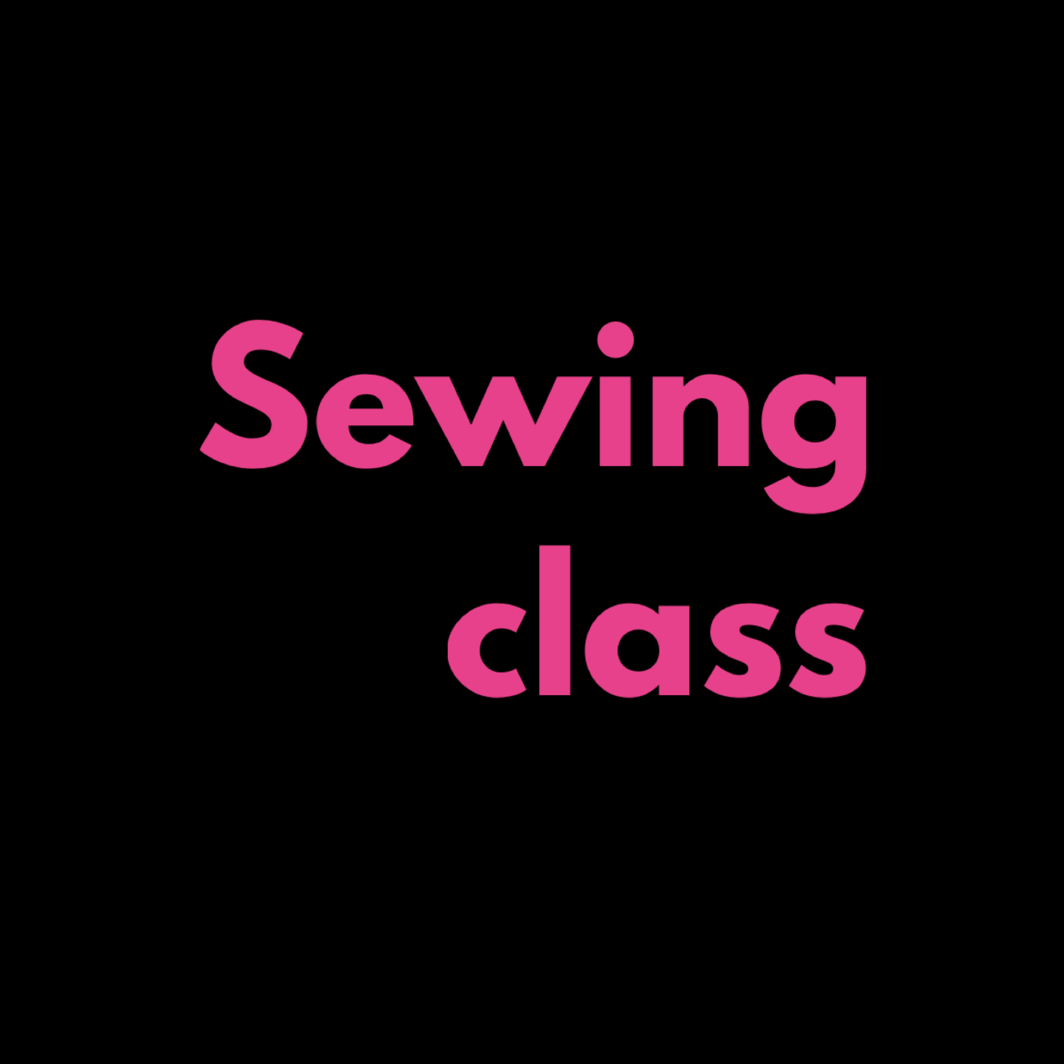 Image of Personal Sewing Class