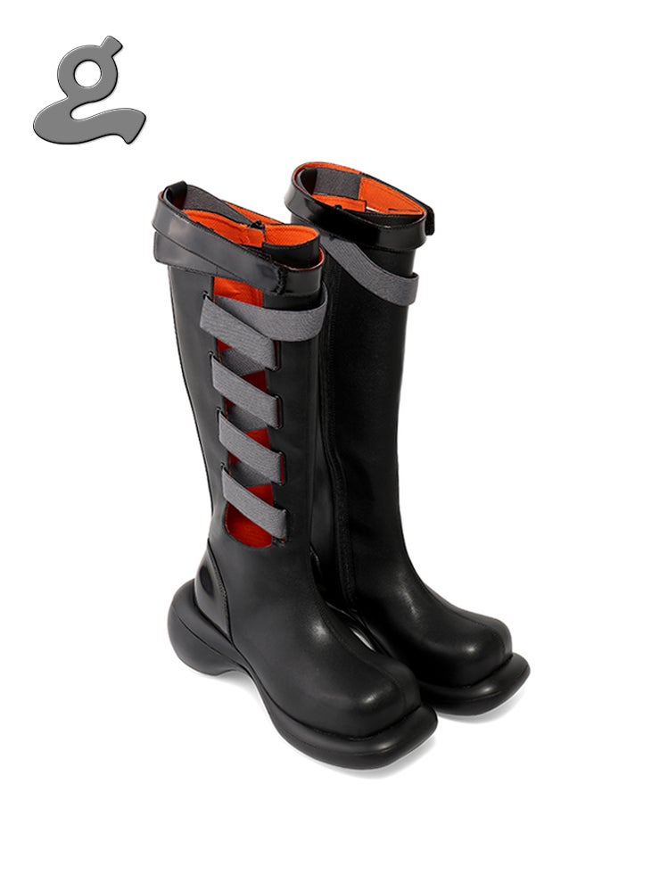 Image of Elastic Tape Black Boots