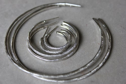 Image of Textured Hoops